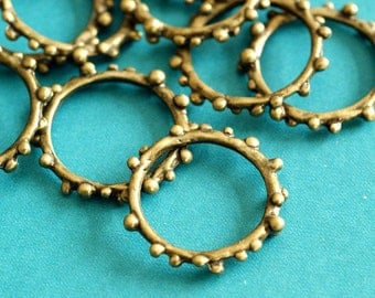 Sale 20pcs 21mm Antique Bronze Hoops EA10950Y-AB