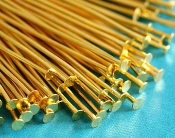100ps 2inch Golden Headpins 50mm