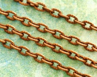 5 Feet Antique Copper Cross Chains CHT104Y-R