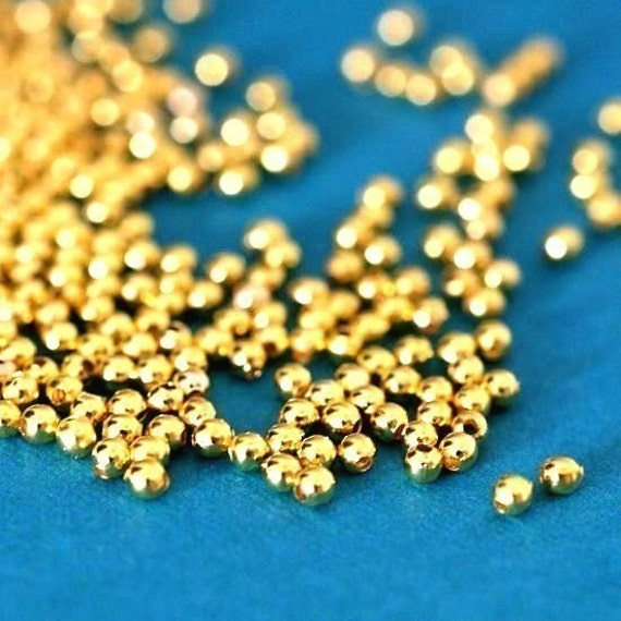200pcs Golden Finish Spacer Beads 2mm