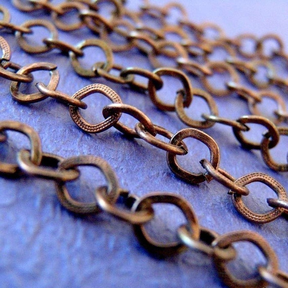 5 Feet Antique Copper Cross Chains CHT022Y-R