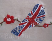 Great British Bird  - Hand Embroidery PDF Pattern