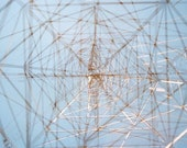 monument: fine art photography. abstract photography. industrial decor. abstract art. multiple exposure photo. geometric art. powerline art.