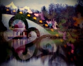 Krishna, visions: surreal photography. autumn photography. abstract photography. double exposure photo colorful fine art print fall wall art