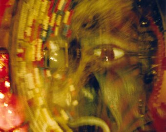 mr wednesday (odin fury): surreal photography. abstract photography. abstract art. multiple exposure photo. experimental photo american gods