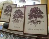 Wedding Table Numbers- Woodland Silhouette- Rustic Tree