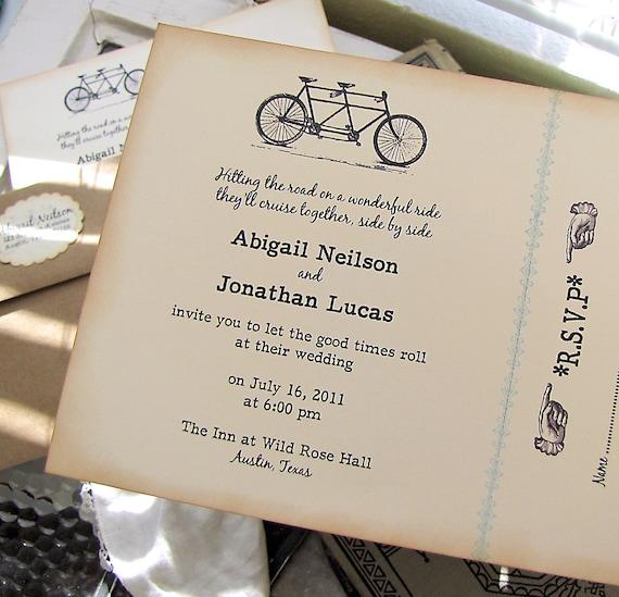 Items Similar To Vintage Wedding Invitation