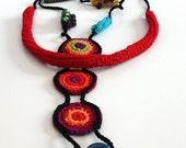 ETHNIC (03) - Handknit Crochet Necklace