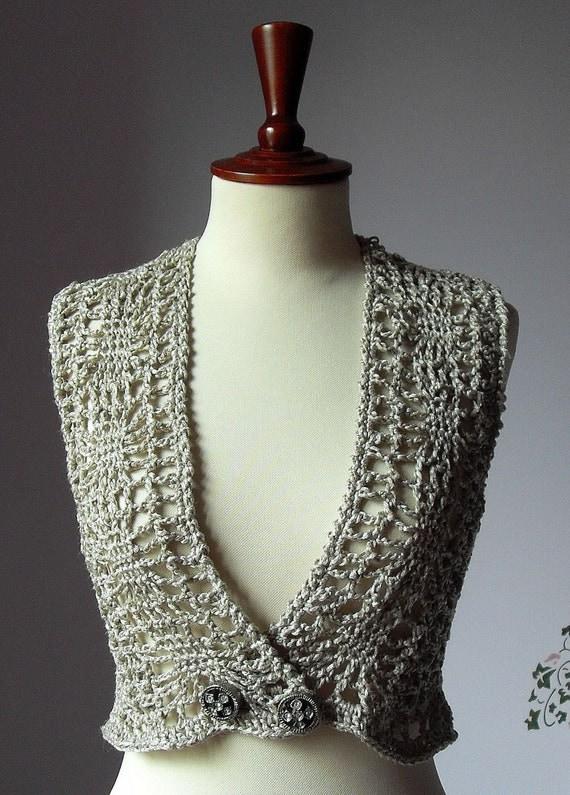Mink Beige Crocheted Vest
