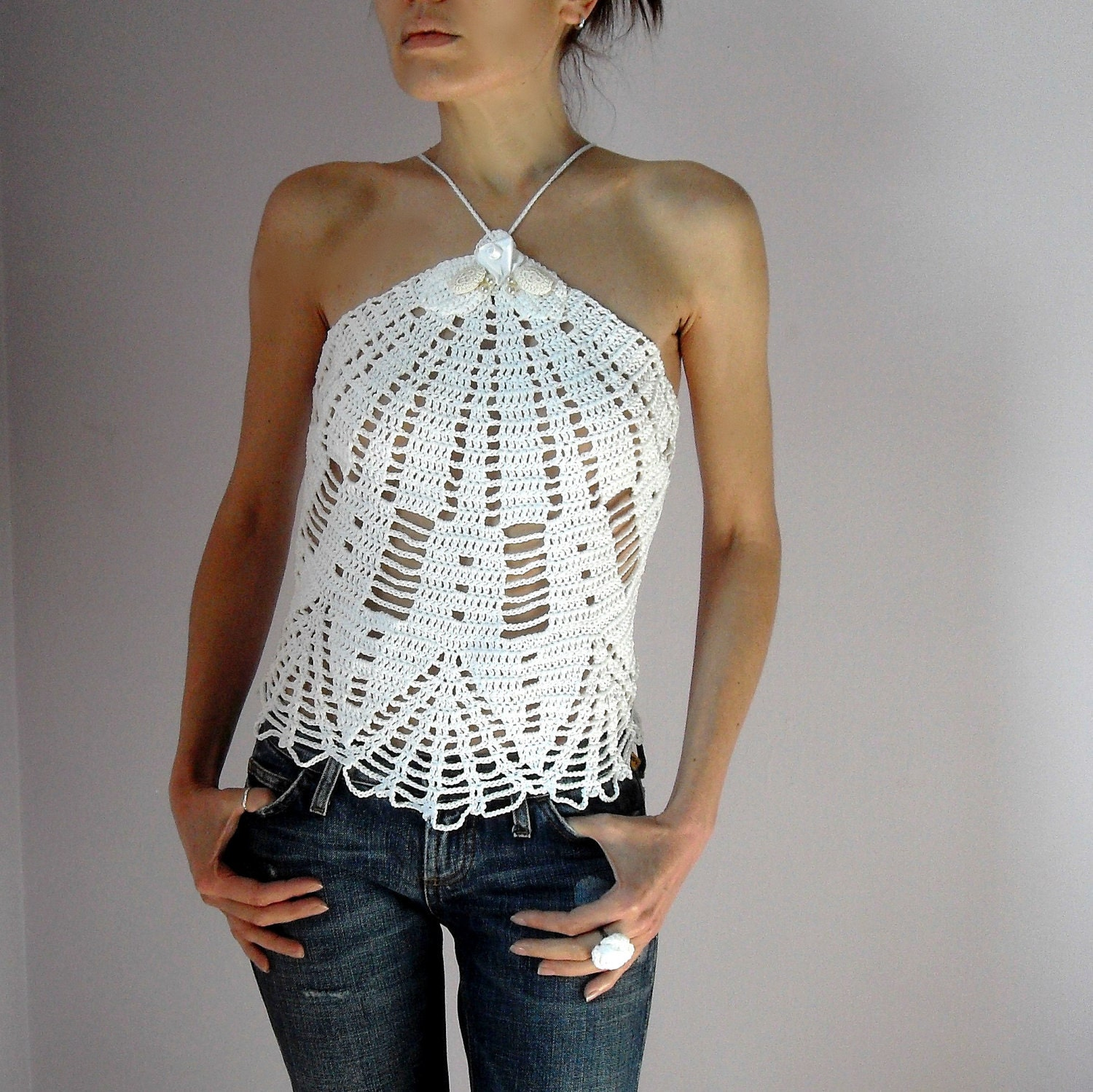 Crochet Tank Top : Chandeliers & Pendant Lights