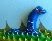 Blue Loch Ness Monster Magnet
