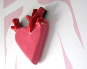 Pink Anatomically Incorrect Heart  Pin