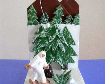 Abominable Snowman Diorama - Limited Edition Ceramic Mini Sculpture