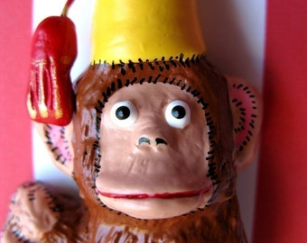 Circus Monkey with a Fez Magnet