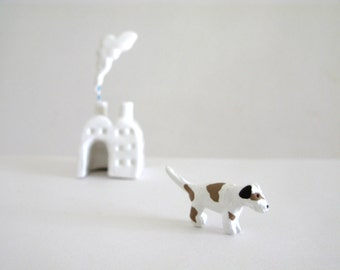 Dog Factory - miniature ceramic sculpture