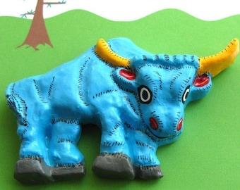 Babe the Blue Ox - Refrigerator Roadside Art Magnet