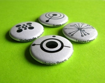 Pin Back Button Pack - Crop Circle Silhouettes