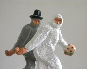 Wedding Cake Toppers - Large Bigfoot Couple