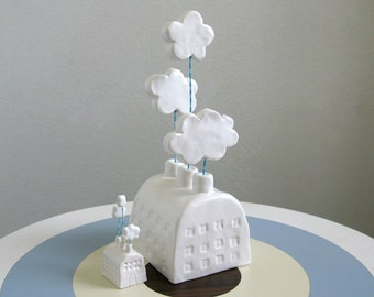 Large Cloud Factory - Ceramic Sculpture