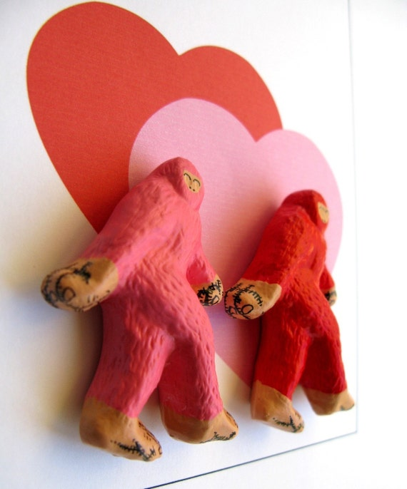 Valentines Day BigFoot PIN Set - Pink and Red