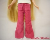 Blythe fuchsia pink corduroy flare pants with front pockets