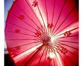 Red parasol - Holga Photographic Print