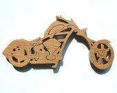 Motorcycle - Chopper - Childrens Wood Puzzle Game - New Toy - Hand Made - Child Safe