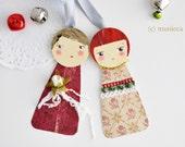 Paperdolls ornaments - set 3