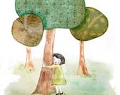 Tree Lover  - 5x7 print
