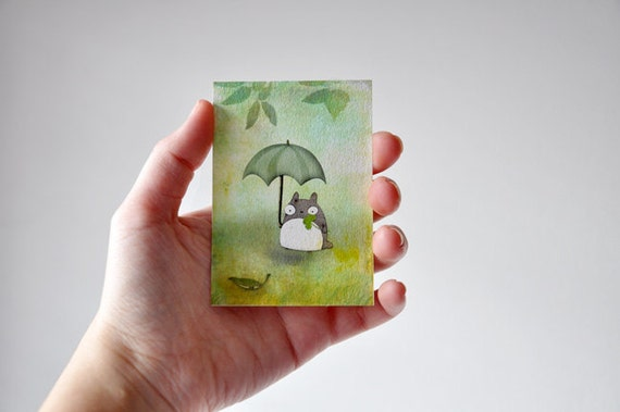 Totoro - aceo card