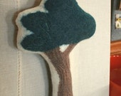 RESERVED FOR COLLEEN - Hand Felted Wool Oak Tree