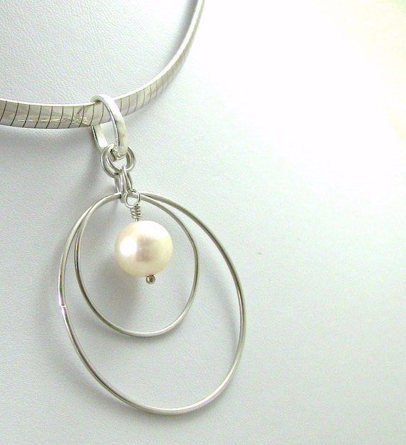 Christian Jewelry - Sterling Silver and 10mm Fresh Water Pearl Pendant  - GO-GO 6 in1