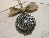 20% off entire shop... see shop announcement for details... Mocha Filigree . . . locket necklace