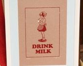Girls Drink Milk