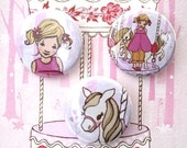 Ava and the Carousel Button Set