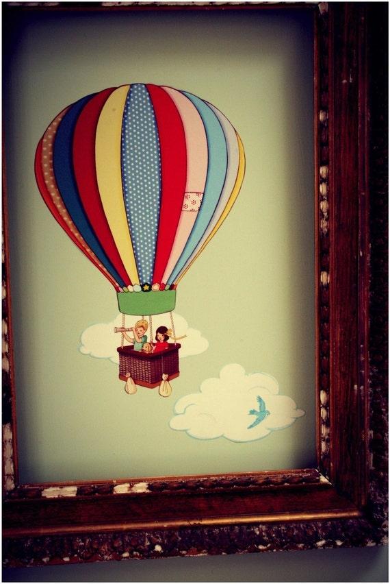 Miniz Hot Air Balloons Wall Sticker
