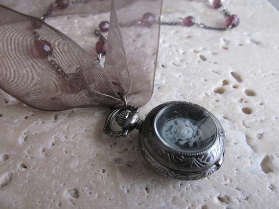 Beauty of Time Pocketwatch Necklace
