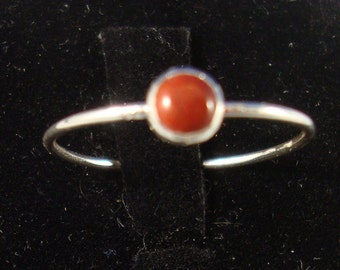 Little Red Jasper Ring - Blood of the Earth -  eco friendly recycled sterling silver -Custom made in your size