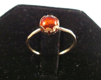 Baltic Amber Ring -  recycled 14k gold filled  Custom made in your size