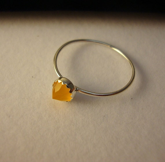 Sassy Spessartite Orange Garnet sterling silver ring - custom size