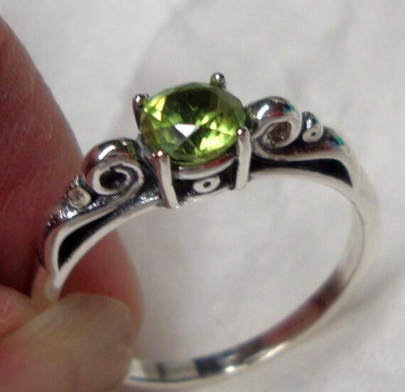 Simple Peridot Rings