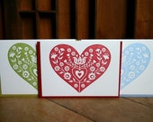 heart noteset (mulit set of 6)