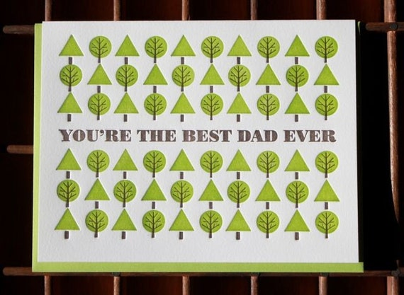 you're the best dad ever card