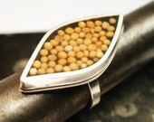 Marquis and Mustard Seed Ring