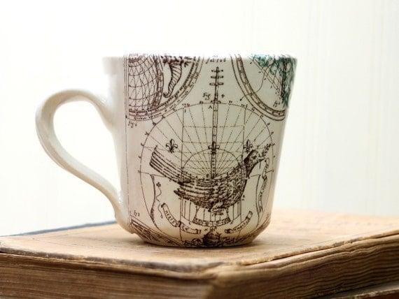 Espresso Cup - Diagram of a Bird