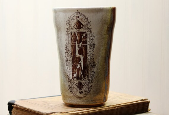 Water Glass, Cup, Tumbler - Vintage Fashion