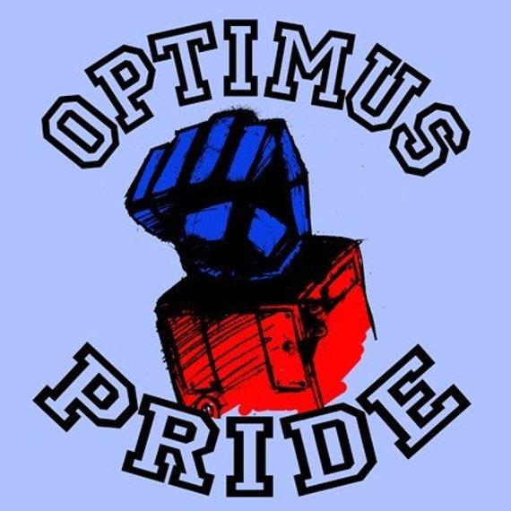 Optimus Pride Adult T Shirt Transformers