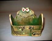 Froggie Business Card or Trinket Holder