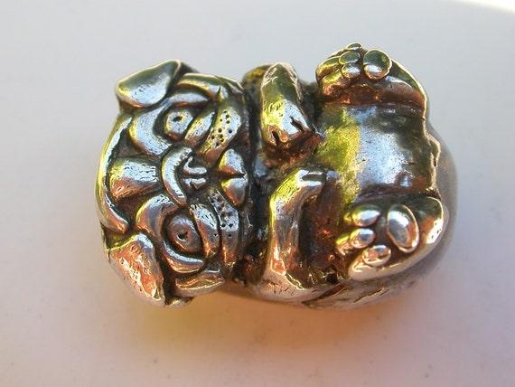 Fine Silver Pug Pendant