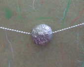 RESERVED for SHERMAN - Solid Silver Lava Bead